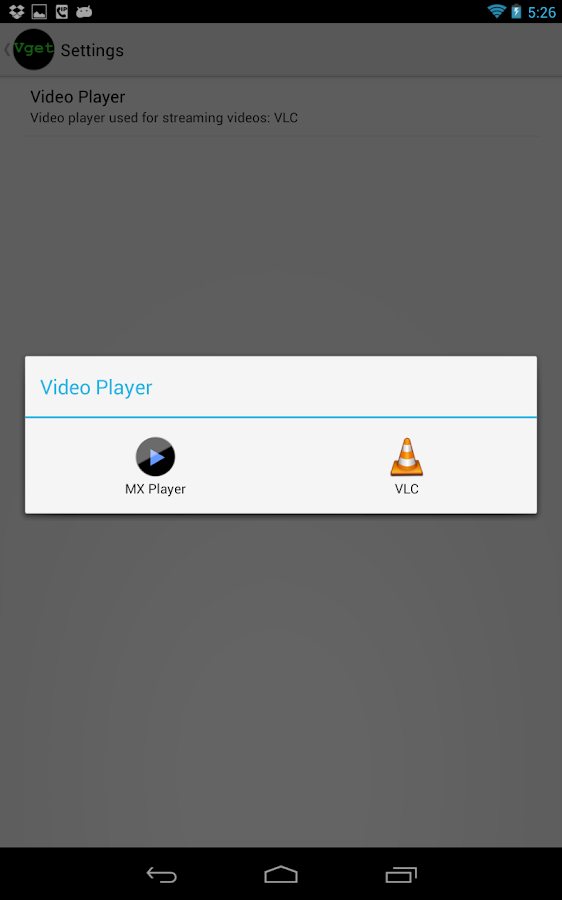 vGet (Stream, Download, DLNA) Screenshot 5
