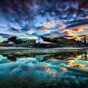 Laytown Cottage by Alnor Prieto - Landscapes Waterscapes