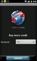 Screenshot of Rushphone - Cheap calls, SMS