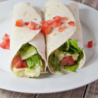 Egg Salad Tortilla Wrap