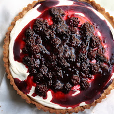 Whipped Mint Ganache Tart with Blackberries