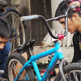 BMX bikers by Cuncun Wijaya - Sports & Fitness Cycling