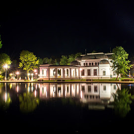 Casino Cluj by Andrei Stanciu - City,  Street & Park  Night ( water, long exposure, casino, landscape, reflexion )