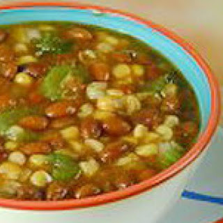Low-fat Vegetarian Corn Chowder with Beans