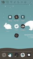 Screenshot of Animals of Winter Atom Theme