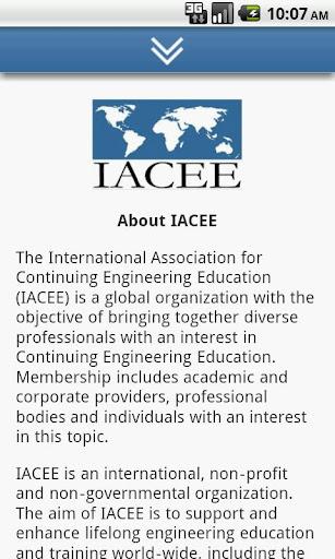 IACEE Website Mobile App