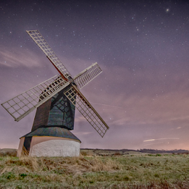 Millers Night by Paul Putman - Buildings & Architecture Other Exteriors ( colour, mill, mood, long exposure, night, starscape )