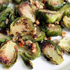 Browned Brussels Sprouts With Hazelnuts & Lemon