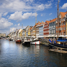 Nyhaven by Stefan Friedhoff - City,  Street & Park  Historic Districts ( pitoresque, colorful, harbour, nyhaven, ships, denmark, mood factory, vibrant, happiness, January, moods, emotions, inspiration )