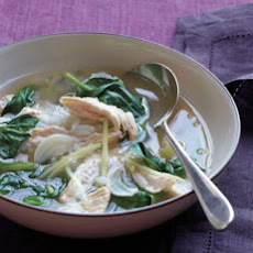 Chicken-and-Rice Soup with Ginger