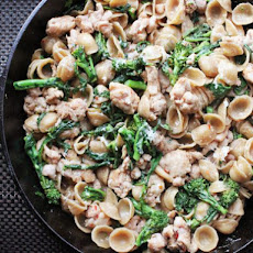 Skillet Orecchiette with Sausage and Broccoli Rabe