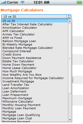 Mortgage Finance Calculators