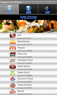 Singapore Food Delivery - screenshot