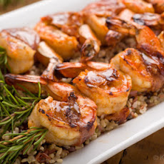 Grilled Shrimp With Garlic and Breadcrumbs