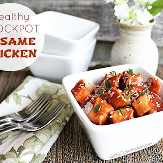 Healthy Crockpot Sesame Chicken