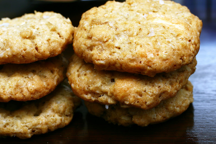 Crisp Salted Oatmeal White Chocolate Cookies Recipe | Yummly