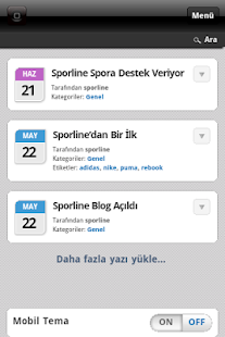 Sporline Blog - screenshot