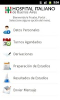 Screenshot of Portal Personal de Salud