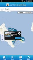 Screenshot of Zante Travel Map