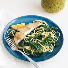 Linguine with Kale and Cod