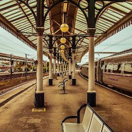 York Station by Havneet Singh - Transportation Trains