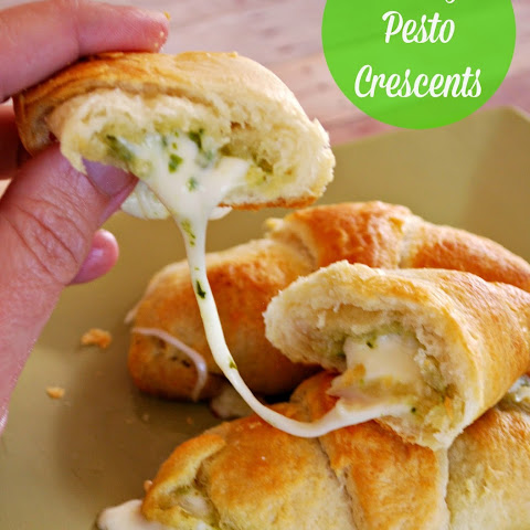 Cheesy Pesto Crescents