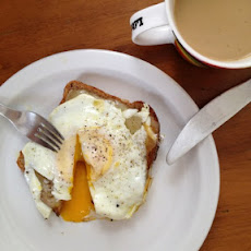 Over Easy Egg Tartine with Cheddar