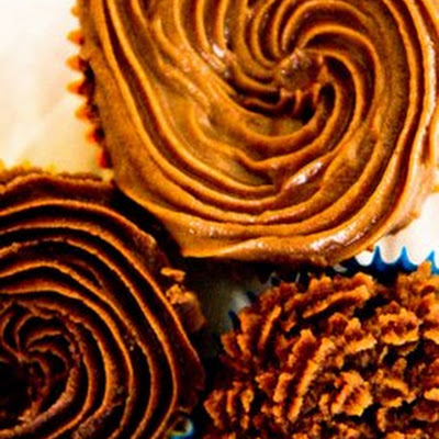 Pecan Butter Frosting with Chocolate and Bourbon