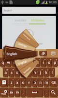 Screenshot of Liquid Chocolate Keyboard