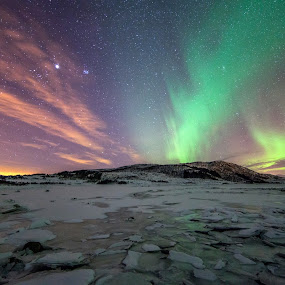 colourful auroras by Benny Høynes - Landscapes Starscapes ( canon, auroras, northernlights, light, norway )
