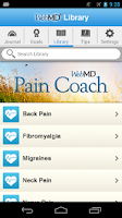 Screenshot of WebMD Pain Coach