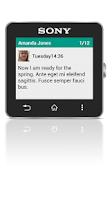 Screenshot of Messaging smart extension
