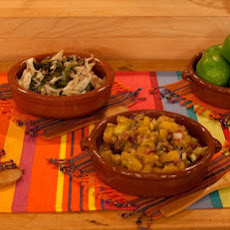 Roasted Poblano Salpicon with Mushrooms