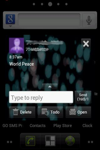 Blue Chill Theme Go SMS