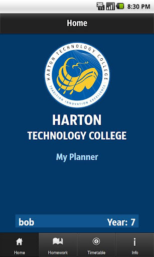 Harton College - My Planner
