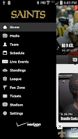 Screenshot of New Orleans Saints Mobile