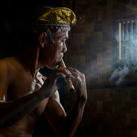 The Flutist by Pimpin Nagawan - People Portraits of Men