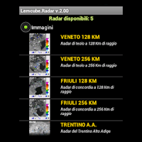 Screenshot of Radar Meteo Veneto Trentino