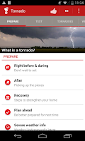 Screenshot of Tornado - American Red Cross