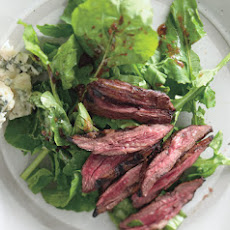Grilled Skirt Steak and Arugula Salad with Roquefort and Catalina Dressing