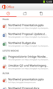 Microsoft Office Mobile Screenshot