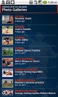 Screenshot of Syracuse University Athletics
