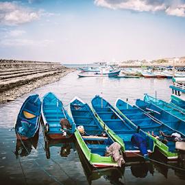 Wajah TPI Oeba by Joni Trisongko - Transportation Boats ( east nusa tenggara, boats, beach, landscape, fisherman )