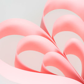 hearts by Vibeke Friis - Artistic Objects Other Objects ( hearts, paper, pink )