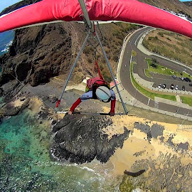 Voando em asa delta no Porto Santo by Leonel Camacho - Sports & Fitness Other Sports