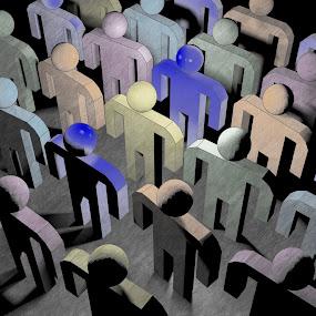 Diversity by TONY LOPEZ - Illustration People ( diversity, corporate, coloful, 3d, human interest, race, people, business, human )