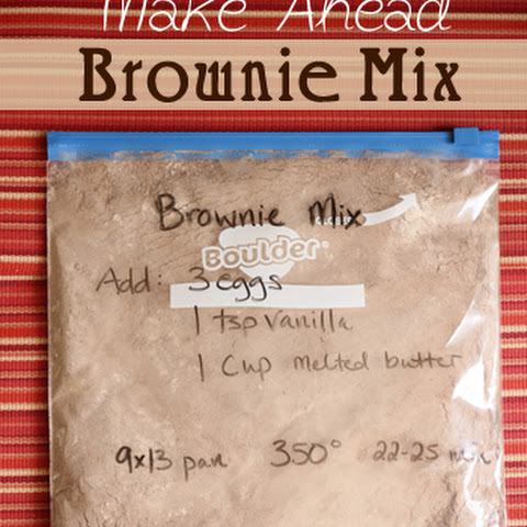Easy Homemade Brownie Mix