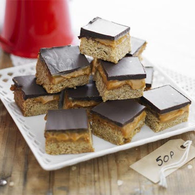 Chocolate & Caramel Flapjacks