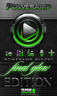 Poweramp widget Green Glow - screenshot