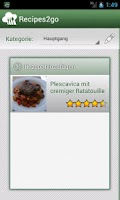 Screenshot of Recipes2go ProKey